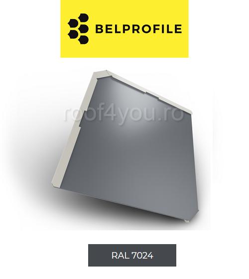 "Solzi BELPROFILE QUADRA, suprafata ""BigStone"", grosime 0.5 mm, RAL 7024 0"