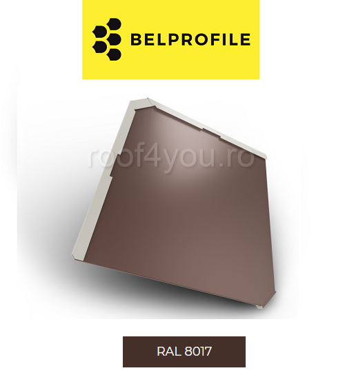 "Solzi BELPROFILE QUADRA, suprafata ""SandShape"" (structurat), grosime 0.5 mm, RAL 8017 0"