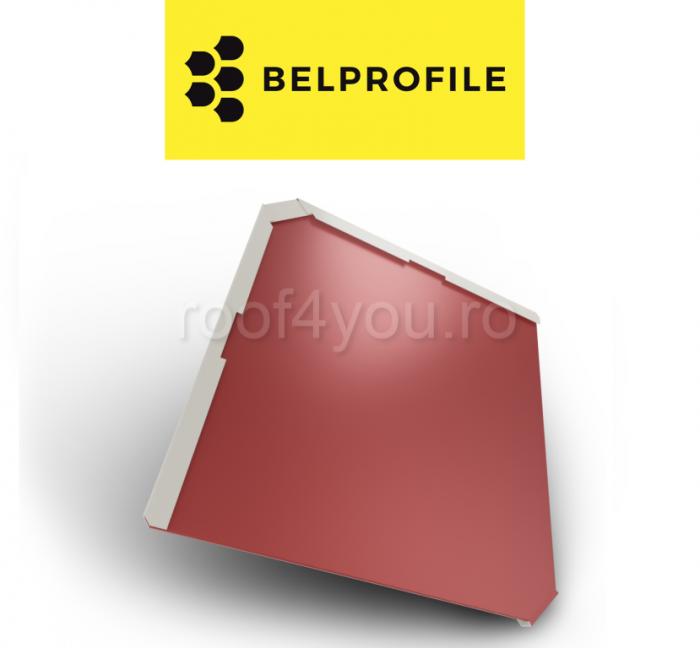 """Solzi BELPROFILE QUADRA, suprafata """"SunClear"""" (lucios), grosime 0.6 mm, RAL 3011 0"""