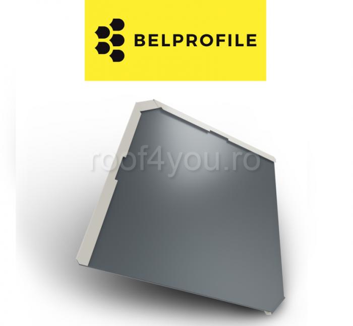 """Solzi BELPROFILE QUADRA, suprafata """"SunClear"""" (lucios), grosime 0.6 mm, RAL 7016 0"""