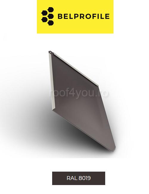 "Solzi BELPROFILE ROMBO, suprafata ""SandShape"" (structurat), grosime 0.5 mm, RAL 8019 0"