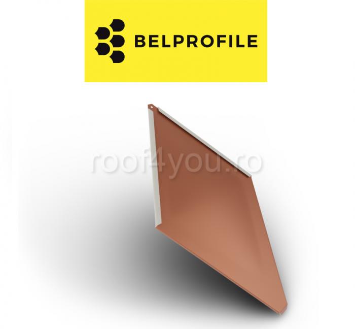 """Solzi BELPROFILE ROMBO, suprafata """"SunClear"""" (lucios), grosime 0.6 mm, RAL 8004 0"""