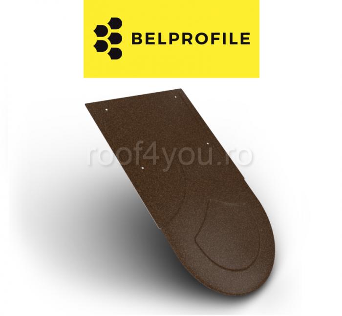 "Solzi BELPROFILE RONDO, suprafata ""PrinTech"", grosime 0.6 mm, RAL KORTEN 0"
