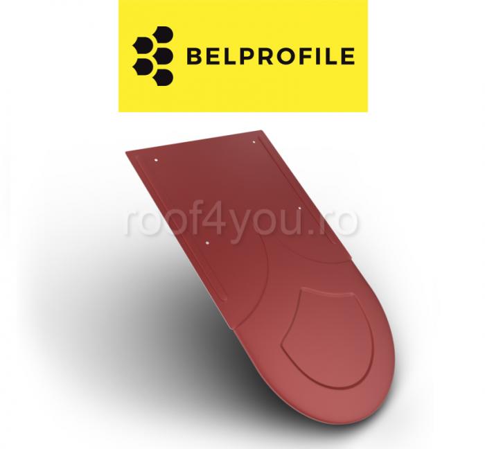 """Solzi BELPROFILE RONDO, suprafata """"SunClear"""" (lucios), grosime 0.6 mm, RAL 3011 0"""