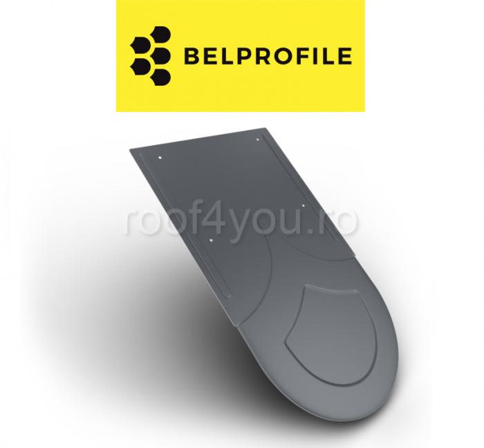 """Solzi BELPROFILE RONDO, suprafata """"SunClear"""" (lucios), grosime 0.6 mm, RAL 7024 0"""