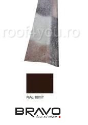 Sort rupere panta exterior 2 m Structurat  BRAVO  0,45 mm / RAL 8017  latime 250 mm 0