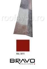 Sort rupere panta exterior 2 m Structurat  BRAVO  0,50 mm / RAL 3011  latime 250 mm 0
