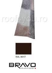 Sort rupere panta interior  2 m Lucios  BRAVO  0,45 mm / RAL 8017  latime 250 mm 0
