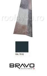 Sort rupere panta interior  2 m Lucios  BRAVO  0,50 mm / RAL 7016  latime 250 mm 0