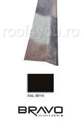 Sort rupere panta interior  2 m Structurat BRAVO  0,45 mm / RAL 8019  latime 250 mm 0