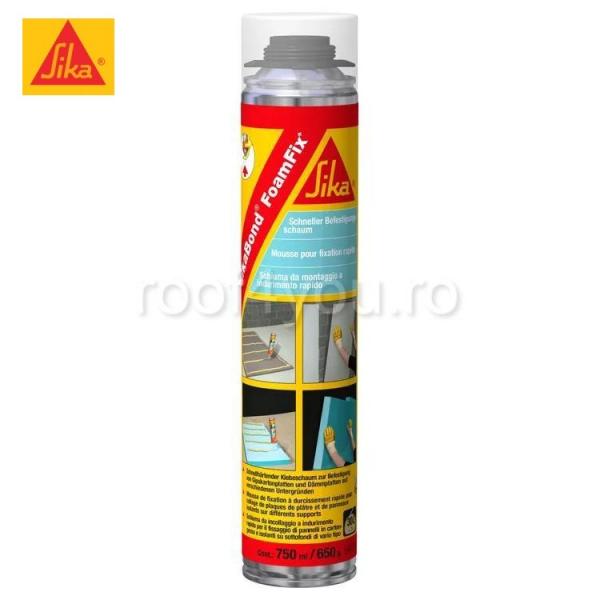 Spuma poliuretanica cu aplicare manuala SikaBond FoamFix+, 750 ml 0