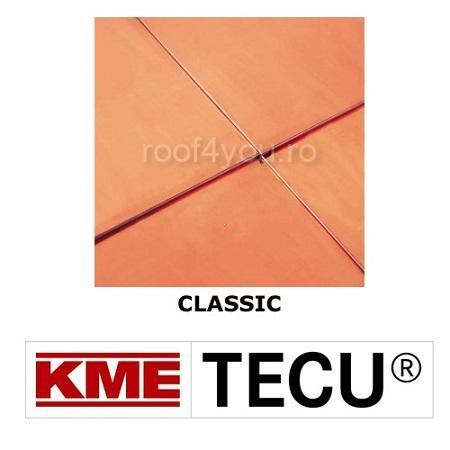 Tabla cupru 0.6mm KME Tecu Classic (rulou 670mm) 0