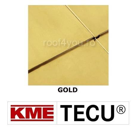 Tabla cupru 0.7mm KME Tecu Gold (foaie 670 x 3000mm) 0