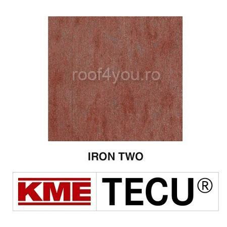 Tabla cupru 0.6mm KME Tecu Iron Two (folie 1000 x 2000mm) 0