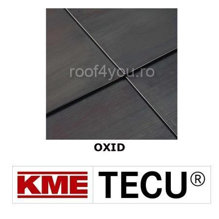 Tabla cupru 0.6mm KME Tecu Oxid (rulou 500mm) 0