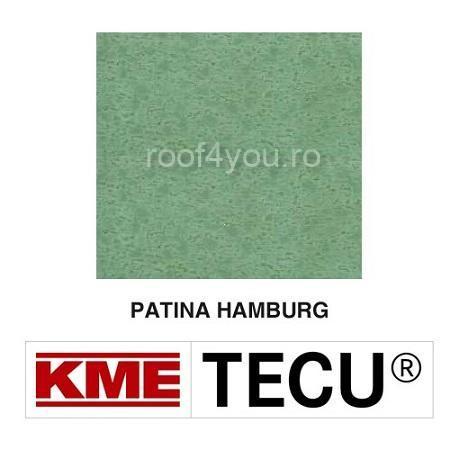 Tabla cupru 0.6mm KME Tecu Patina Hamburg (foaie 1000 x 2000mm) 0