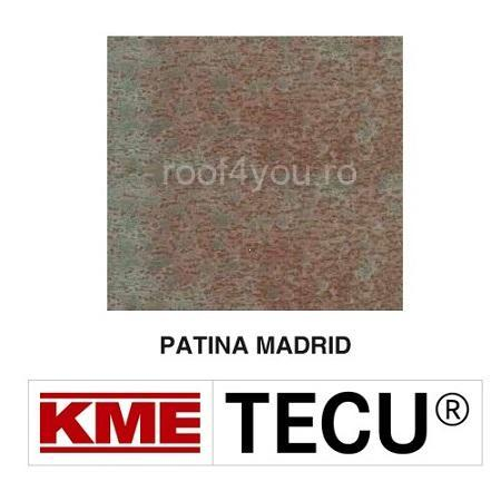 Tabla cupru 0.6mm KME Tecu Patina Madrid (foaie 1000 x 3000mm) 0