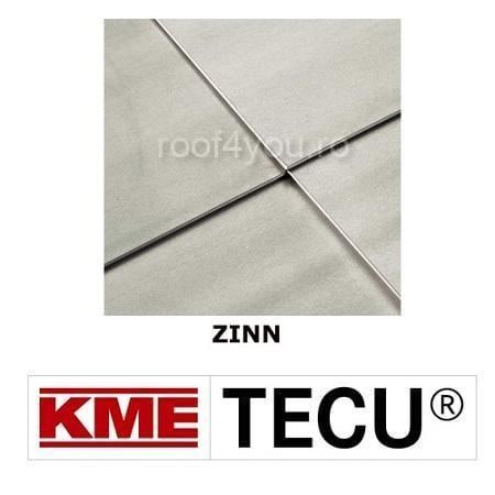 Tabla cupru 0.6mm KME Tecu Zinn (rulou 500mm) 0