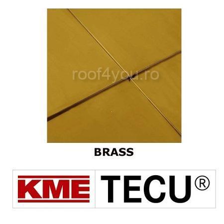 Tabla cupru 0.7mm KME Tecu Brass (foaie 670 x 2000mm) 0