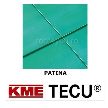 Tabla cupru 0.7mm KME Tecu Patina (foaie 670 x 3000mm) 0