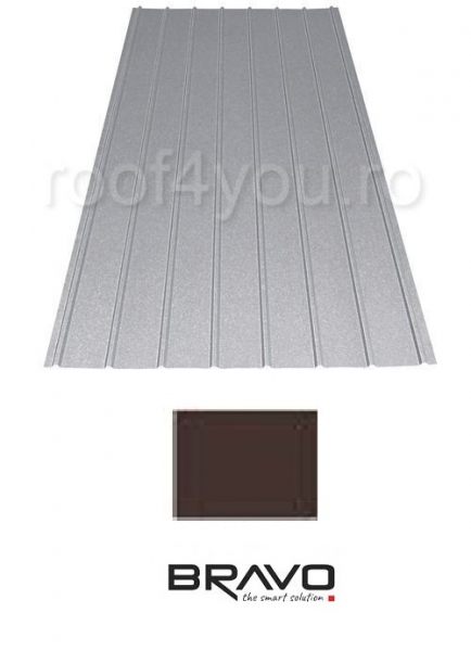 Tabla Cutata H12 BRAVO 0,45 mm / RAL 8017 Lucios 0