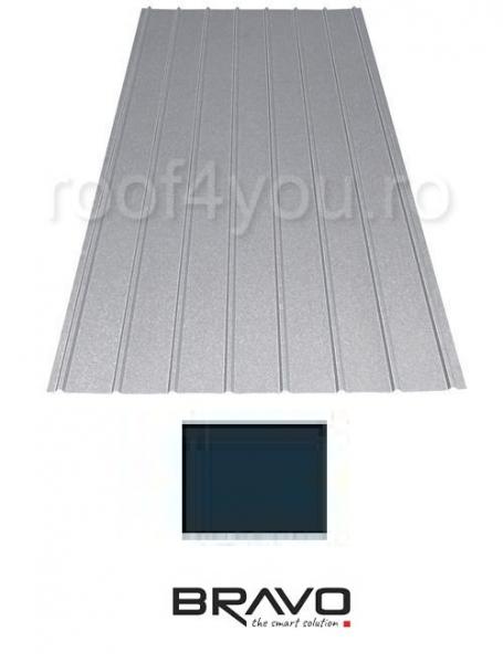 Tabla Cutata H12 BRAVO 0,50 mm / RAL 7016 Structurat 0