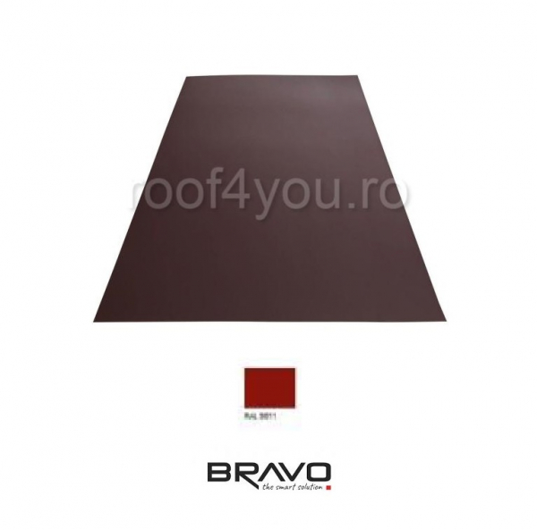 Tabla Plana Lucios  BRAVO  0,45 mm / RAL 3011  latime 250 mm 0