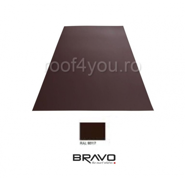 Tabla Plana Lucios  BRAVO  0,50 mm / RAL 8017 latime 250 mm 0