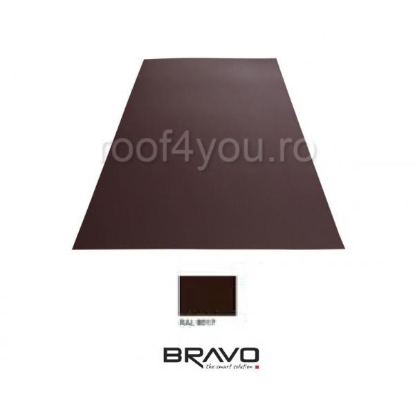 Tabla Plana Structurat  BRAVO  0,50 mm / RAL 8017 latime 250 mm 0
