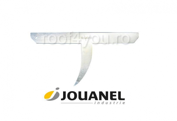 Nicovala pentru taiat ardezie, pe stanga, 500 mm, otel forjat, Jouanel 0