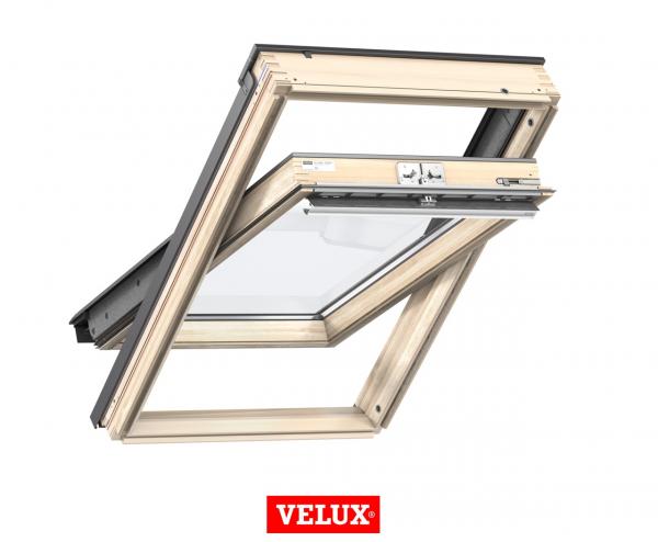 Velux Standard GZL 1051, 55/78, toc din lemn, deschidere mediana, geam dublu + rama etansare EDW 2000 [1]
