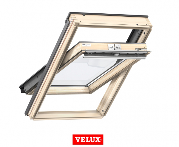 Velux Standard GZL 1051, 55/78, toc din lemn, deschidere mediana, geam dublu 0
