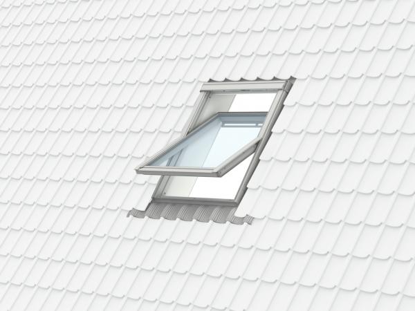 Velux Standard GZL 1051, 55/78, toc din lemn, deschidere mediana, geam dublu + rama etansare EDW 2000 [7]