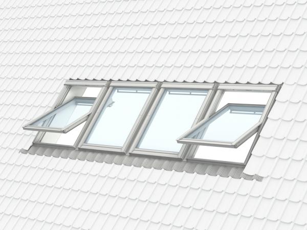 Velux Standard GZL 1051, 55/78, toc din lemn, deschidere mediana, geam dublu + rama etansare EDW 2000 [8]