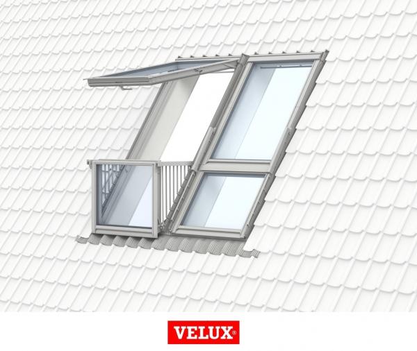 Velux GDL 3066, 114/252, toc din lemn, deschidere mediana, geam triplu 7