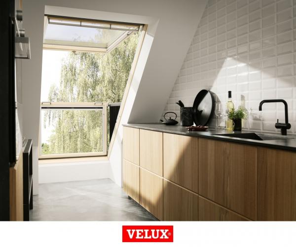 Velux GDL 3066, 94/252, toc din lemn, deschidere mediana, geam triplu 3