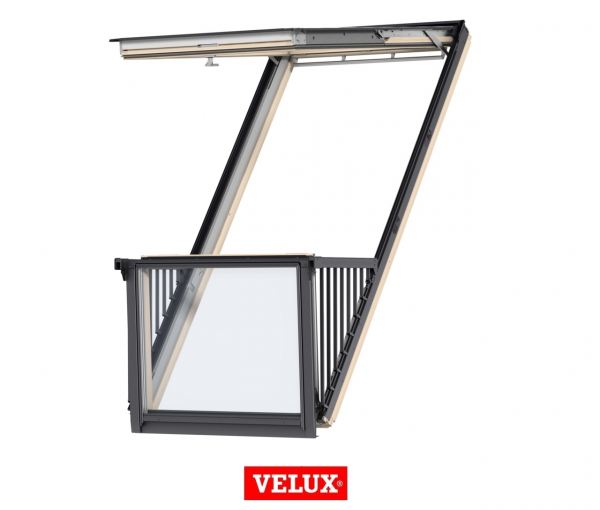 Velux GDL 3066, 114/252, toc din lemn, deschidere mediana, geam triplu [0]