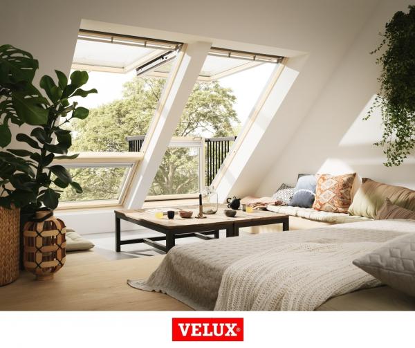 Velux GDL 3066, 94/252, toc din lemn, deschidere mediana, geam triplu 2