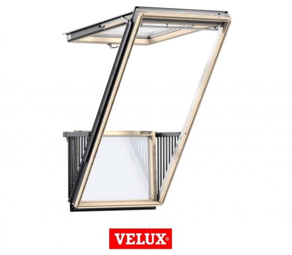 Velux GDL 3066, 114/252, toc din lemn, deschidere mediana, geam triplu 1