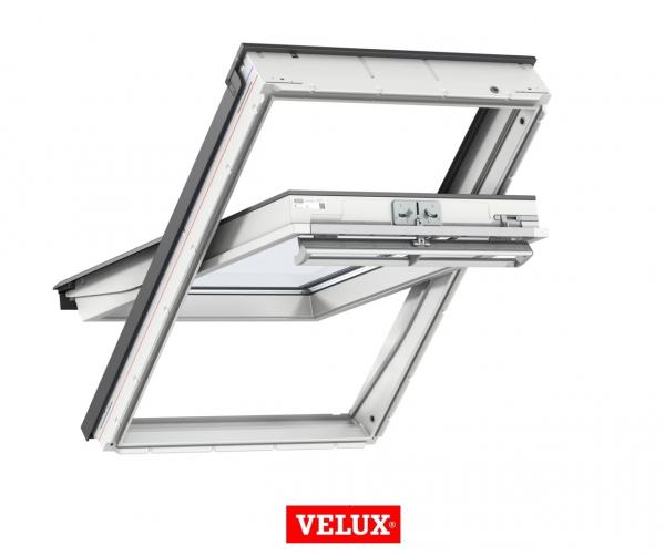 Velux Premium GGU 006630, 55/78, toc din poliuretan, deschidere mediana, geam triplu 8