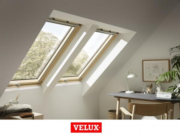 Velux Premium GPL 3066, 55/98, toc din lemn, deschidere mediana, geam triplu 4