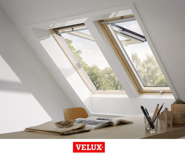 Velux Premium GPL 3066, 55/98, toc din lemn, deschidere mediana, geam triplu 3
