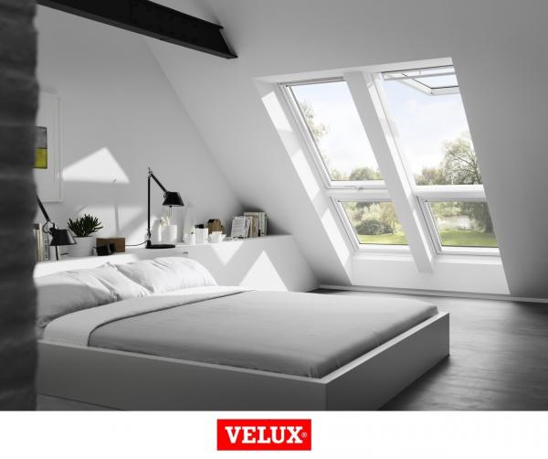 Velux Premium GPU 0066, 55/98, toc din poliuretan, deschidere mediana, geam triplu 3