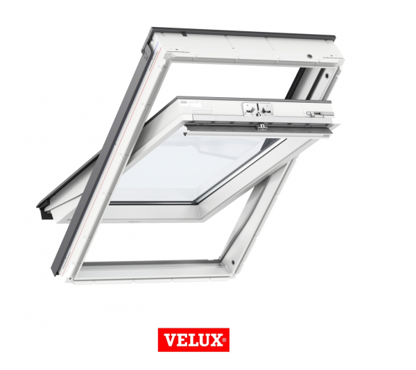 Velux Standard GLU 0051, 55/78, toc din poliuretan, deschidere mediana, geam dublu + rama etansare EDW 2000 0
