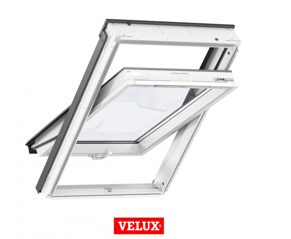 Velux Standard GLU 0061B, 66/118, toc din poliuretan, deschidere mediana, geam triplu 0