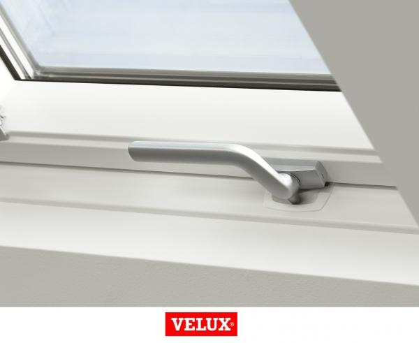 Velux Standard GLU 0061B, 66/118, toc din poliuretan, deschidere mediana, geam triplu 3
