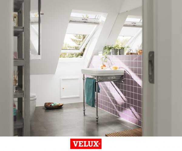 Velux Standard GLU 0061, 55/78, toc din poliuretan, deschidere mediana, geam triplu 3