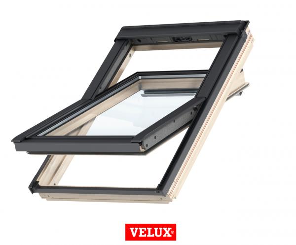 Velux Standard GZL 1051B, 66/118, toc din lemn, deschidere mediana, geam dublu + rama etansare EDW 2000 [1]