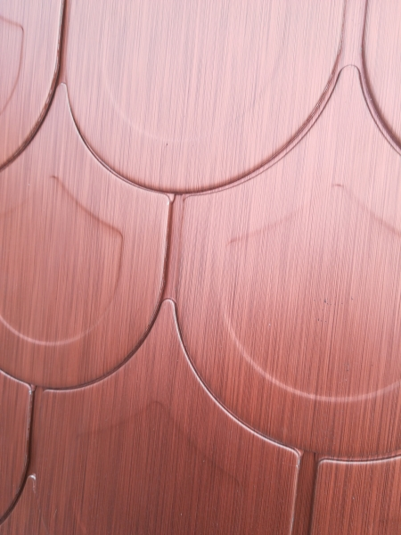 ECO-U line - solzi metalici rotunzi din titan zinc Anthra, 44 buc/mp 3