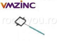 Bratara burlan rectangular Ø120 la Ø120 mm titan zinc natural Vmzinc1